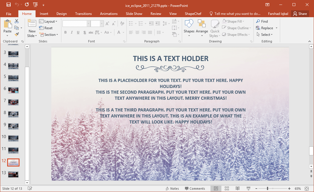 Animated winter and holiday season powerpoint template winter powerpoint template toneelgroepblik Image collections