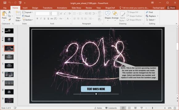 New year 2018 powerpoint template fppt new year 2018 powerpoint template toneelgroepblik Gallery