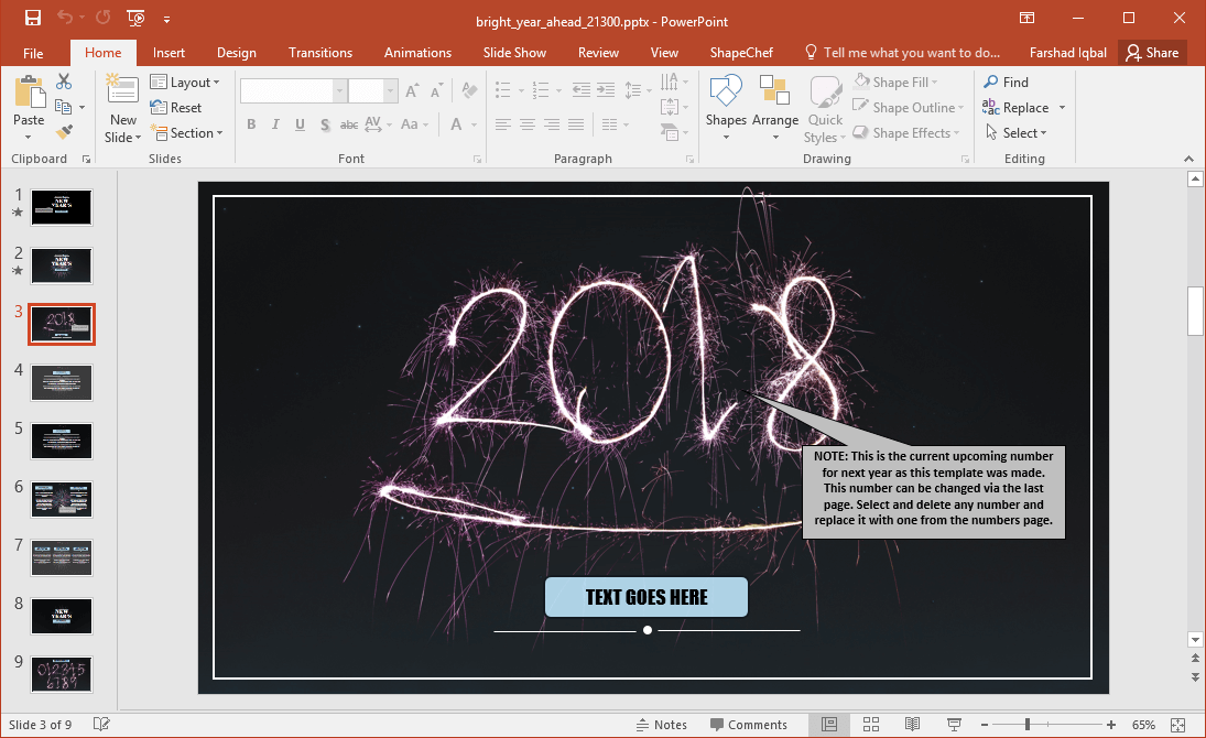 new year 2018 powerpoint template