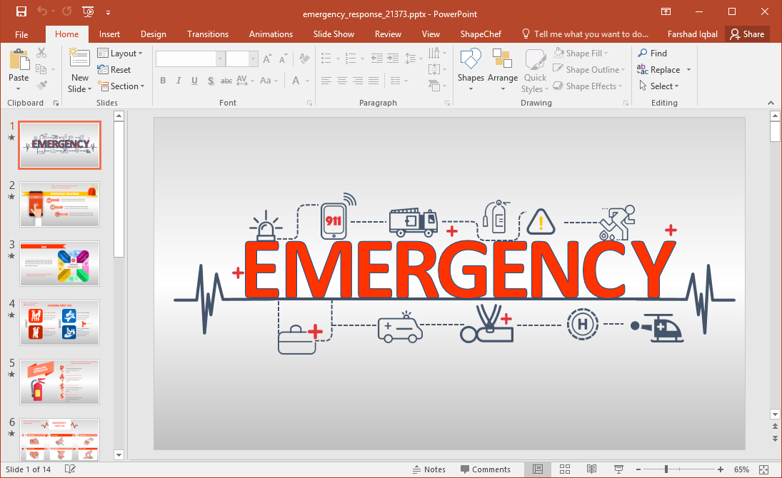 Animated emergency response training powerpoint template toneelgroepblik Choice Image