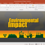 Animated Environmental Issues powerPoint Template