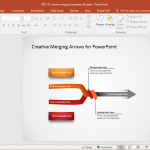 Merging Arrows PowerPoint Template