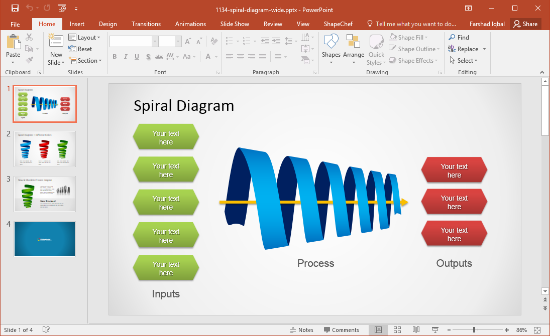 Best Powerpoint Templates Slides With Twisted Arrows