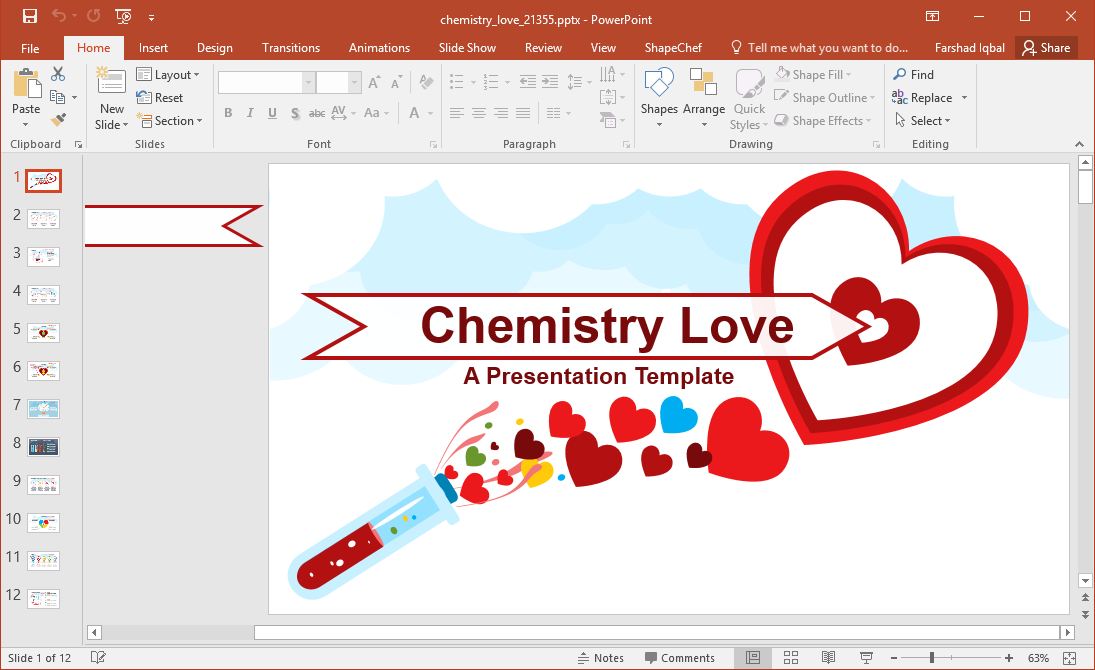 Animated valentines day powerpoint template toneelgroepblik Choice Image