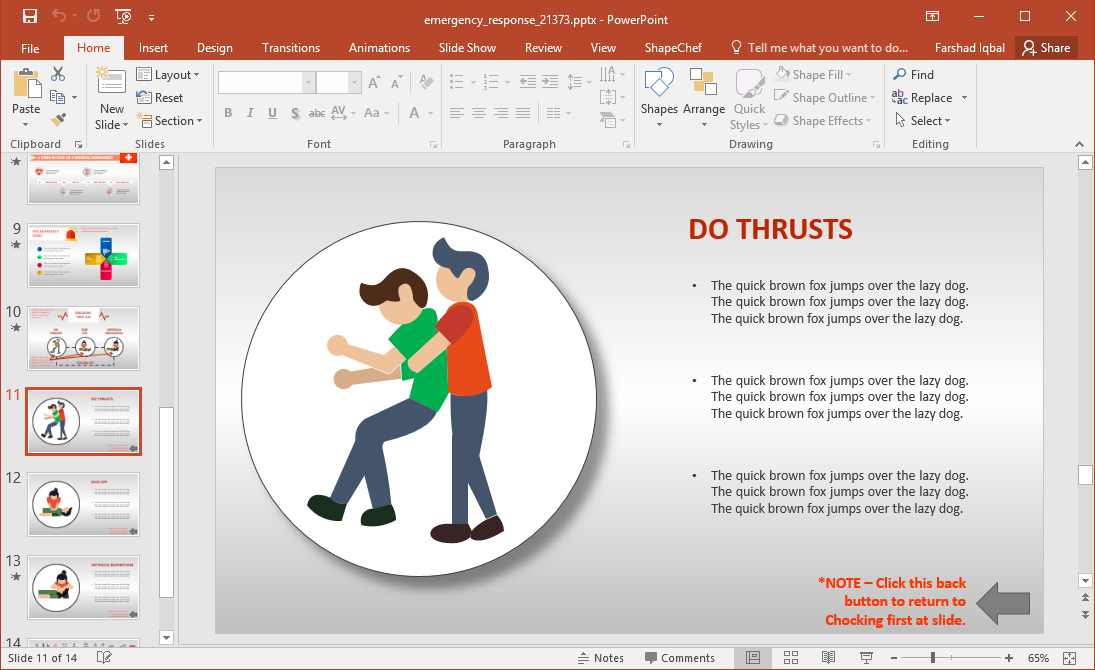 Animated Emergency Response Training PowerPoint Template