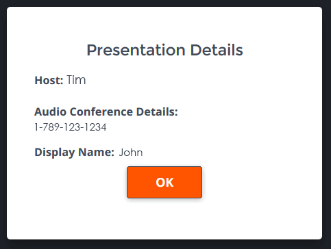 Presentation Only Interface