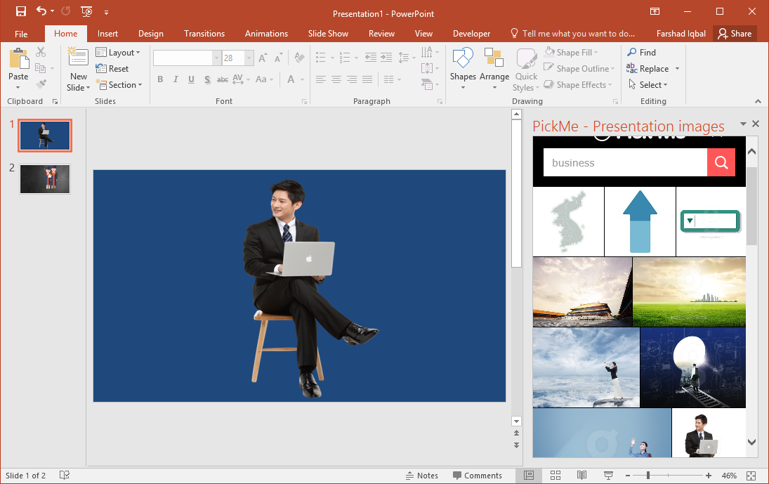 PickMe Add-in Provides Free Stock Images for PowerPoint
