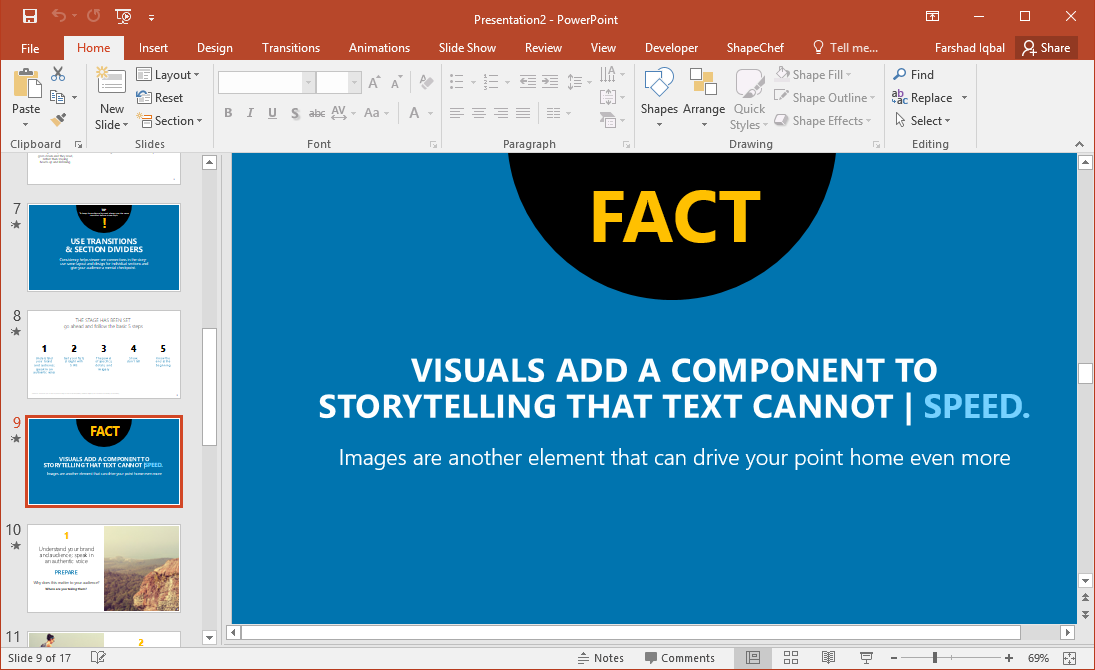 powerpoint template for making powerful presentations fppt