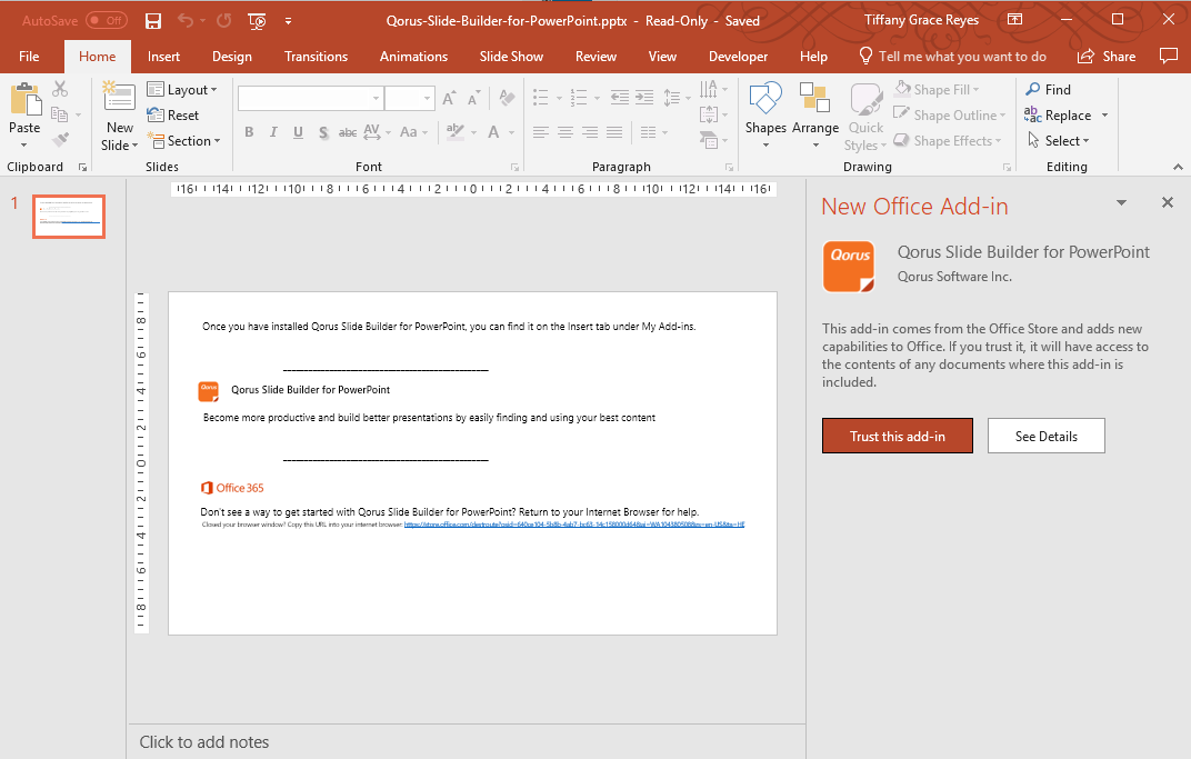 click-trust-this-add-in-to-enable-qorus-for-powerpoint