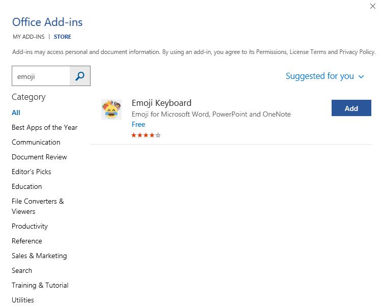 download-emoji-keyboard-from-office-store - FPPT