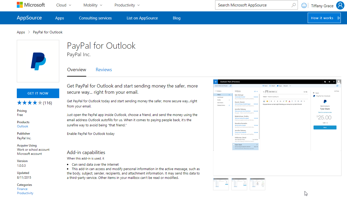 paypal-for-outlook-add-in