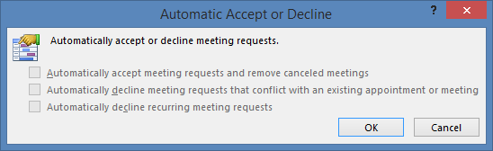 Accept or Reject Calendar Invites