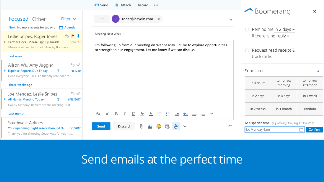 how to send out shceduled emails outlook.com