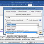 Convert Word Documents in Batch