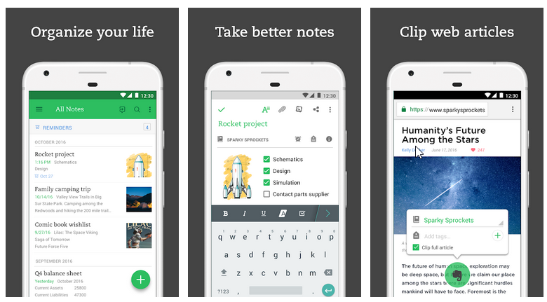 Evernote for Android Devices