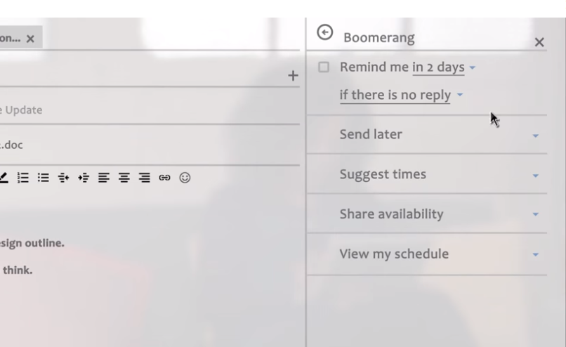 Schedule Emails to Send Later in Outlook with Boomerang