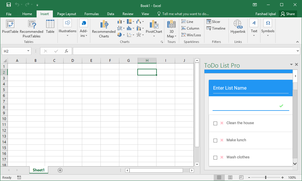 To-Do List in Excel