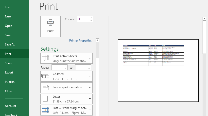 check your settings under print preview