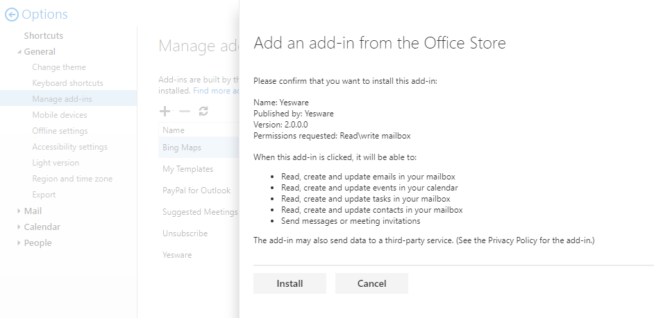 confirm-installation-of-add-in-within-outlook