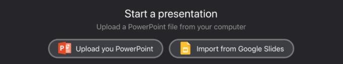 Upload your PowerPoint Presentation or Google Slides