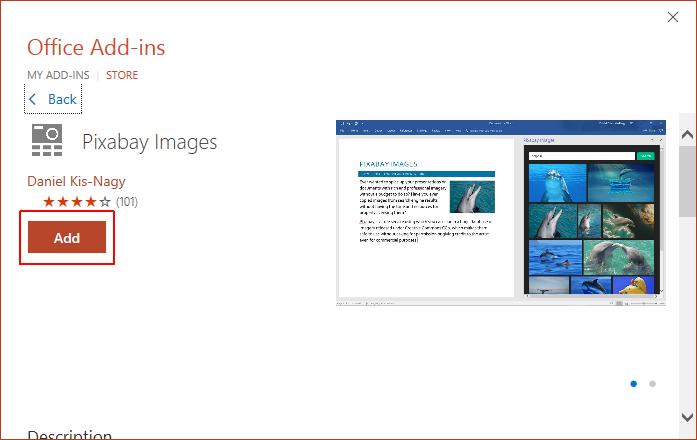 Add Pixabay Add-in