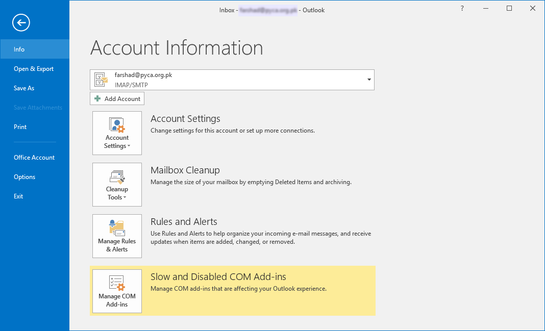 Customize Outlook Settings