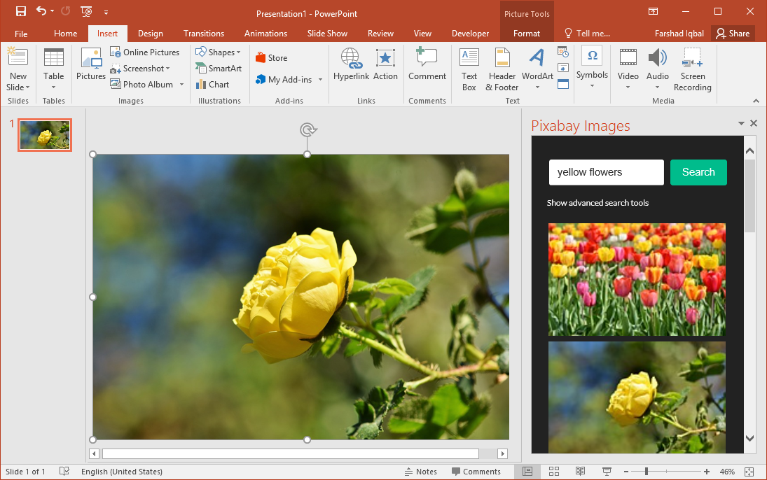 Pixabay Images in PowerPoint Slides