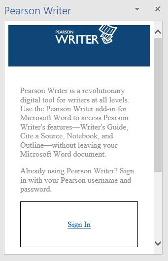 Pearson-Writer-Task Pane