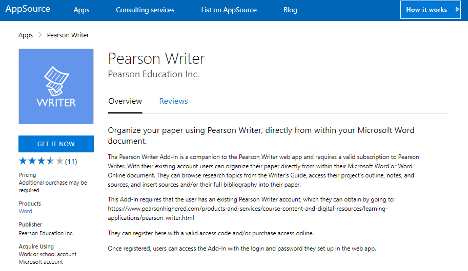 Pearson-Writer-Add-in-for-Word