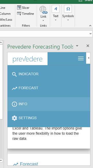 Prevedere-Excel-Taskpane