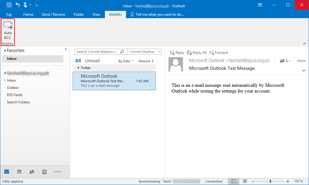 Automatically Use CC or BCC for Microsoft Outlook