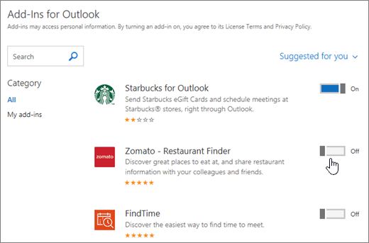 Add-ins for Outlook