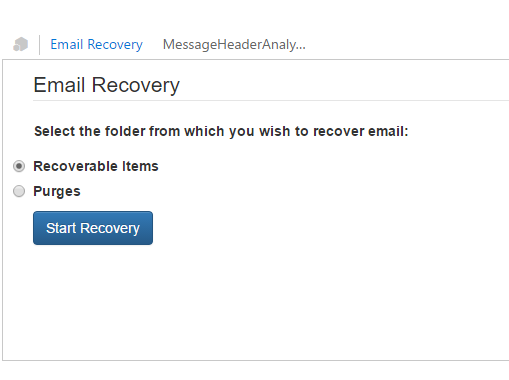 Email Recovery Addin for Outlook