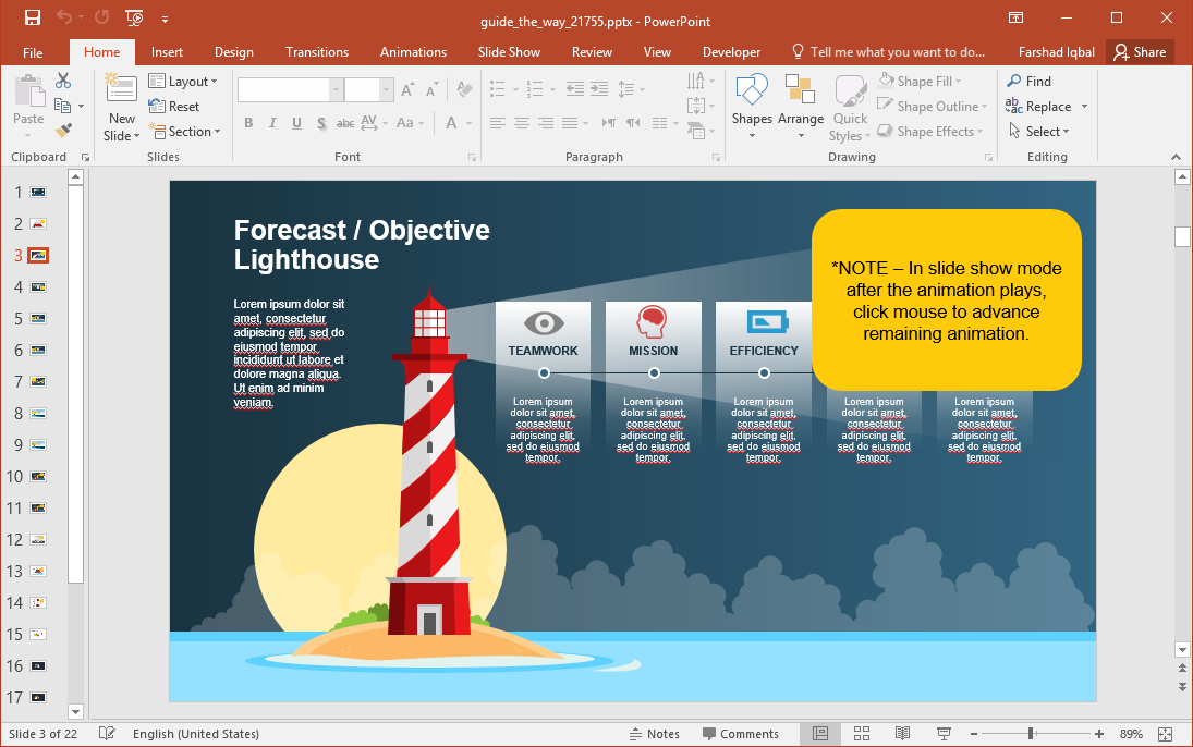 Lighthouse Infographics for PowerPoint
