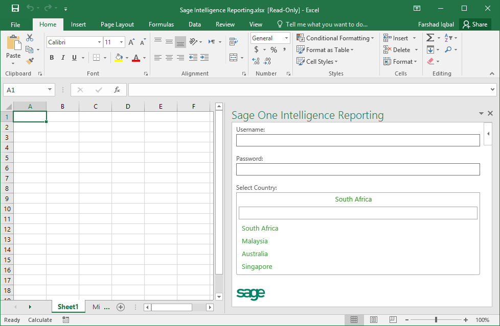 Login to Sage One