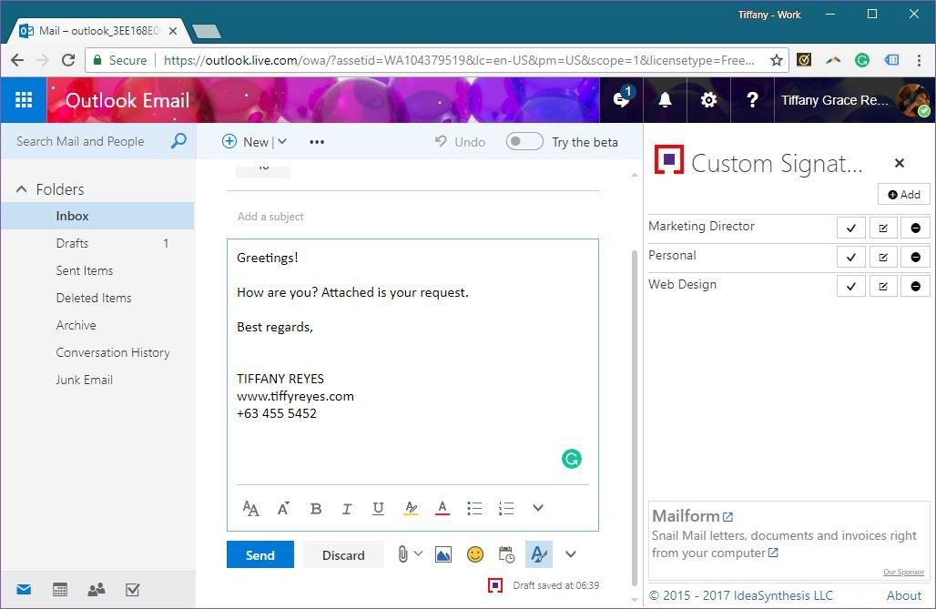 Use Custom Signatures for Different Recipients in Outlook