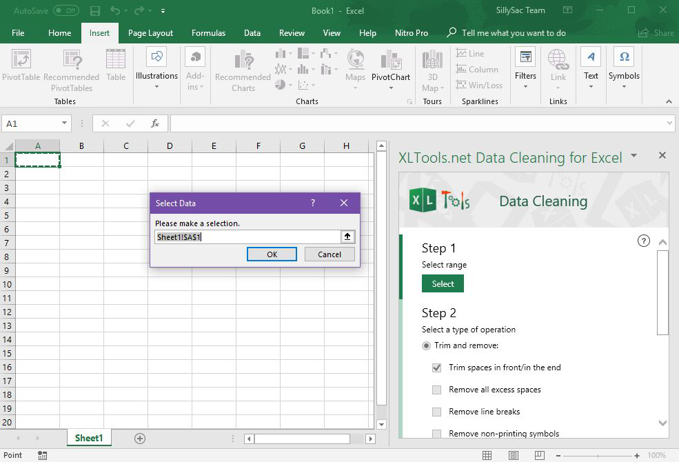 XL Tools Data Cleaning Add-in