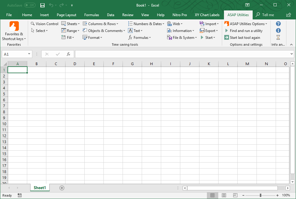ASAP Utilities Tab In Excel