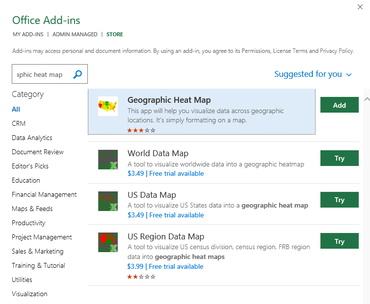 Get Geographic Heat Map Add-In