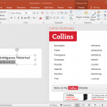 Collins Dictionary for PowerPoint