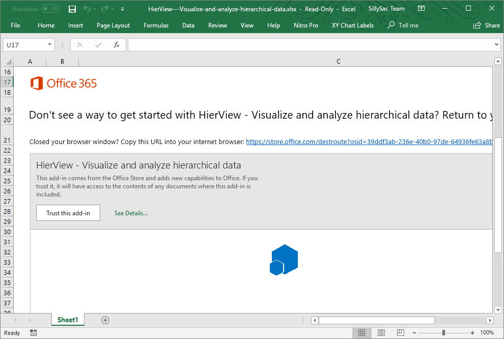 Continue Installing HierView in Excel