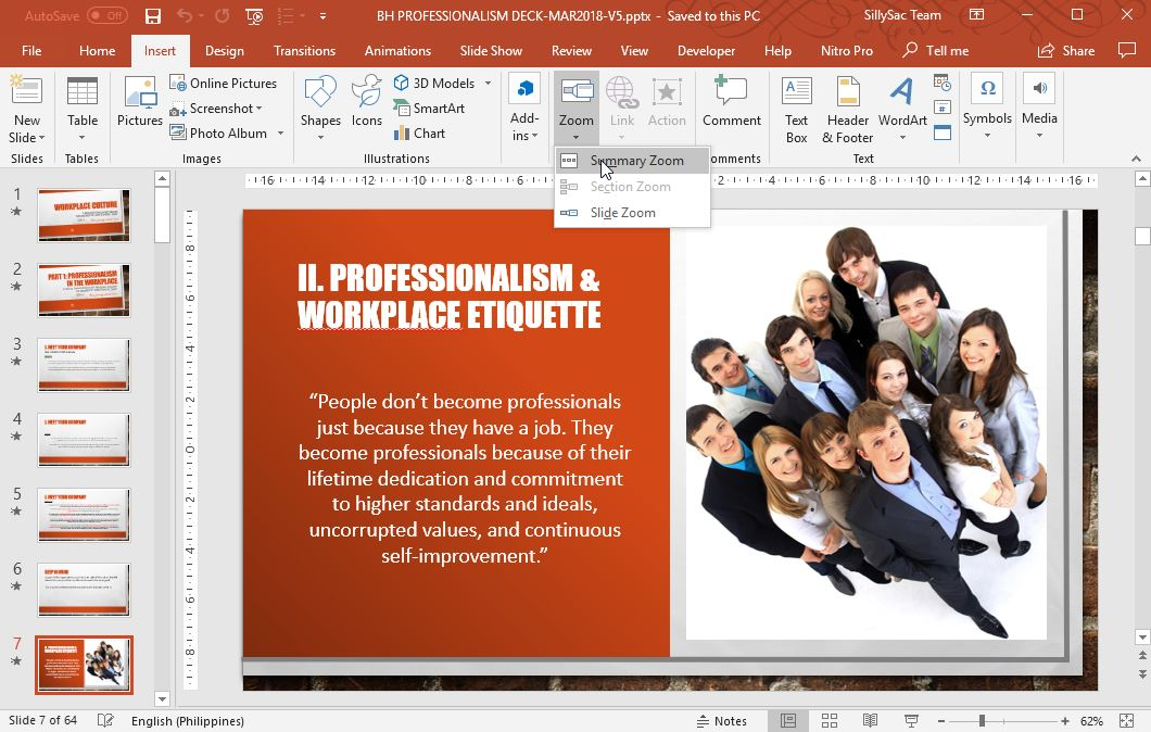 Use the Zoom Tool in PowerPoint