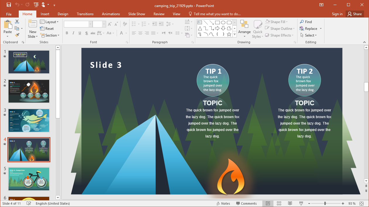 Camping Trip Template for PowerPoint