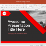 Animated Red Ribbon PowerPoint Template
