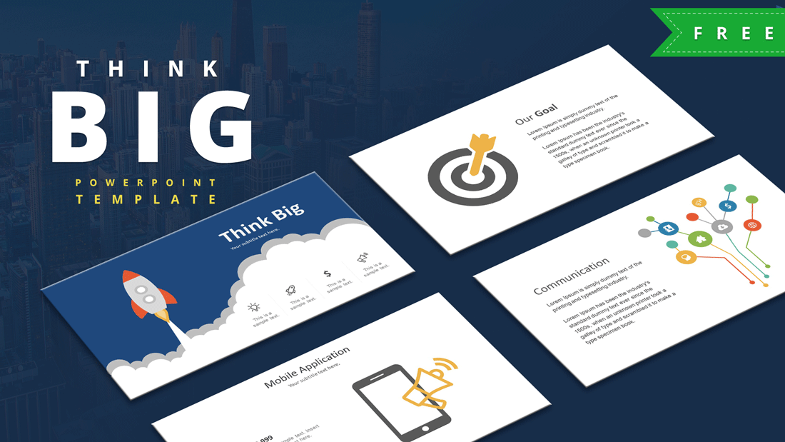 Think Big PowerPoint template design
