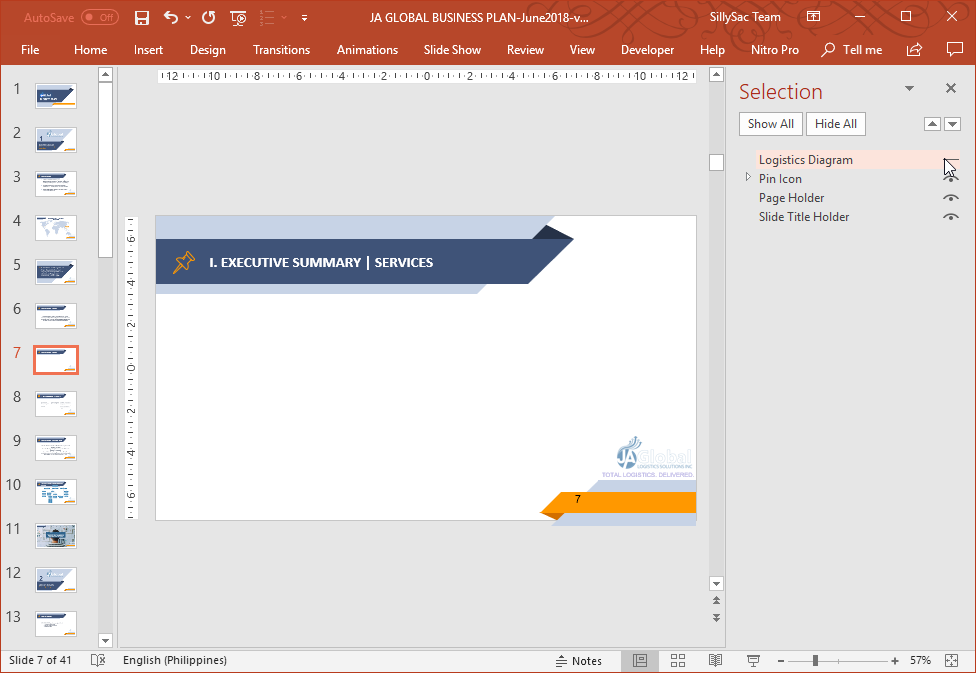 Hide PowerPoint Layers in Slide