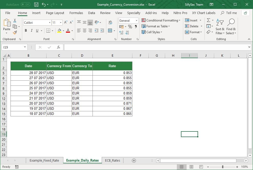 Excel Currency Converter Add-in