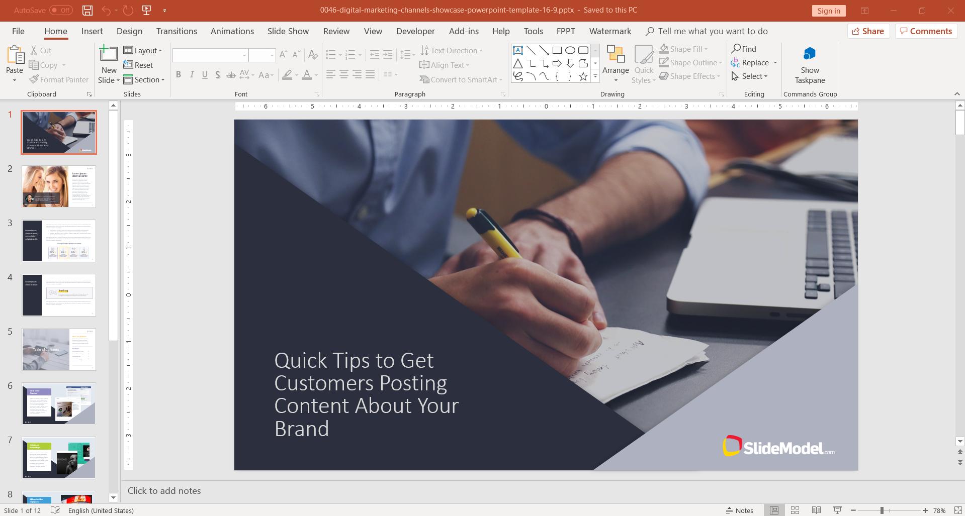 digital-marketing-powerpoint-template - FPPT