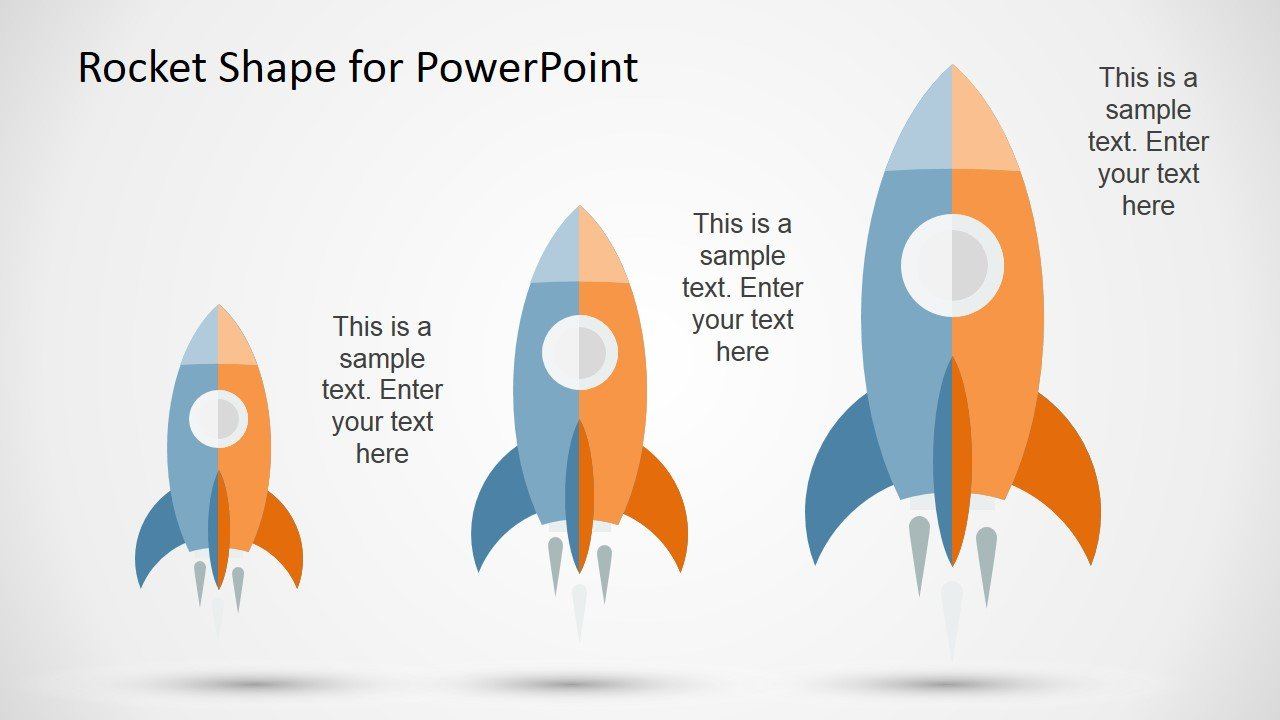 Space rocket shape for PowerPoint 100% editable