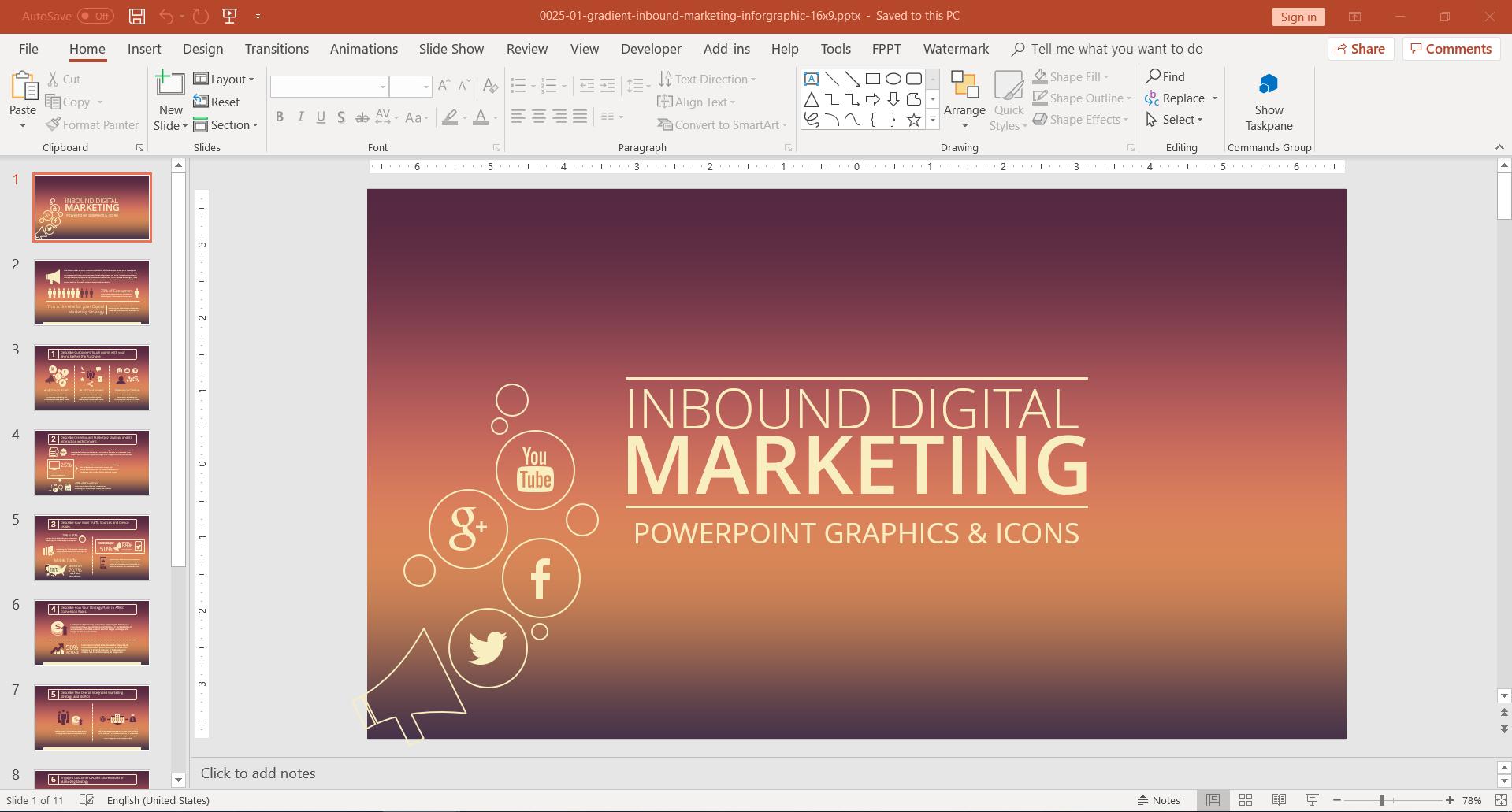 Inbound Digital Marketing PowerPoint Template
